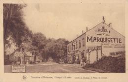 Houyet S/Lesse Entrée Du Château Et Route De Dinant  Circulée En 1932 - Houyet