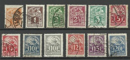 ESTLAND Estonia 1922-1928 Blacksmith Schmied Weaver Michel 32 - 39 A & 57 - 59 Etc O - Estonia