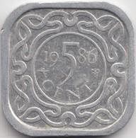 @Y@    Suriname  5 Cent  1986  (4628) - Surinam 1975 - ...