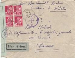 Lettre D'Algérie De M'Sila Pour Damas Avec Censure Et Cachet FFI 31 Mai 1943 BCM... - Postmark Collection (Covers)
