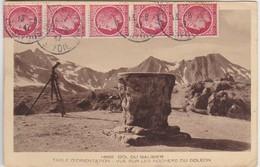 Col Du Galibier Table D' Orientation Vue Sur Les Rochers Du Goleon - Ohne Zuordnung