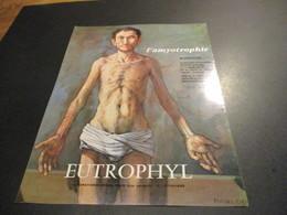 Feuillet Publicité Médicale - Médicament (21x27cm) - EUTROPHYL MYOPROTECTEUR / HEPALIDINE - Publicités