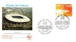 """"""" STADE DE FRANCE """" Sur Enveloppe 1er Jour De 2008 N° YT 4142. Parfait état. FDC - Football"""