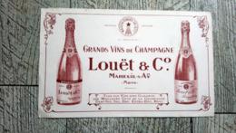Buvard Grands Vins De Champagne Louët Mareuil Sur Aÿ Marne - Autres