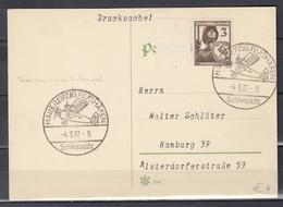 Postkarte Van Halle Leipzig Flughafen Schkeuditz Naar Hamburg (1097) - Germania