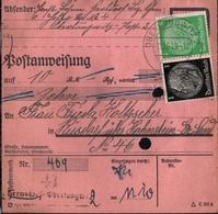 ! 1944 Postanweisung Deutsches Reich, Oberlungwitz Nach Hohenstein-Ernstthal, Sachsen , Zusammendrucke - Covers & Documents