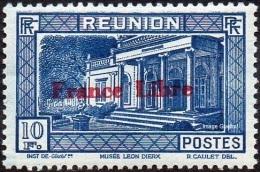 Réunion N° 214 ** Vue -> Musée Léon Dierx à Saint Denis Le 10frs Bleu - Nuevos