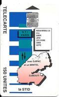 CARTE-PUCE-OPT-DJIBOUTI-150U--SC7-La STID-V° N° C 49146392-TBE - Djibouti