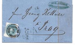 3075a: Altösterreichisches Gebiet Sudetenland- Österreich 1863, ANK 27 B, Blau (75.- €), Brief Maffersdorf/ Reichenberg - Tchécoslovaquie