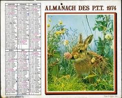 Almanach Des PTT 1974 -  Paris Et Banlieue - Calendars