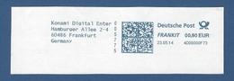 Deutsche Post FRANKIT - 0,90 EUR 2014 - 4D09000F73 - FRANKFURT, Konami Digital Enter - Machine Stamps (ATM)