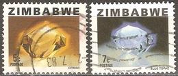 Zimbabwe - 1980 - Citrine Et Topaze Bleue - YT 4 Et 5 Oblitérés - Zimbabwe (1980-...)