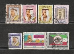 Koweit Lot De 7 Timbres - Année 1964 YT 230 - Année 1969 YT 451 - 1975 YT 645 - Année 1964 YT 224 - Année 1980 YT 808 - Kuwait