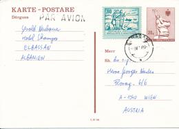 ALBANIEN / ELBASAN -  1990 ,  KARTE POSTARE Per Luftpost Nach Wien - Albanie
