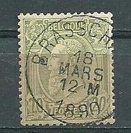 47 Gestempeld BRASSCHAET - COBA 4 Euro - 1884-1891 Leopold II.
