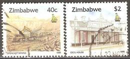 Zimbabwe - 1995 - Mine Et Monument - YT 320 Et 325 Oblitérés - Zimbabwe (1980-...)