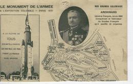 Nos Grands Coloniaux ARCHINARD , - Le Monument De L'Armée à L'Exposition Coloniale De 1931- Bon état - Personaggi