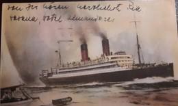 O) OLD SHIP - TRANSATLANTIC MAIL STEAM VESSEL VALBANERA, POSTAL STATIONERY, XF - Other