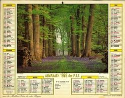 Almanach Des PTT 1979 - Paris - Bobigny - Créteil - Nanterre - Calendars