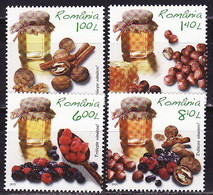 Romania, 2013, Healthy Lifestyle, Honey, Nuts, 4 Stamps - Abejas