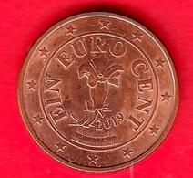 AUSTRIA - 2019 - Moneta - Genziana - Euro - 0.01 - Austria