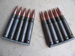 Lot De 2 Clips Mauser Ww2 Neutralisés - Armi Da Collezione