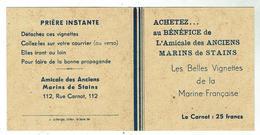 Vignettes Bateaux Au Bénéf. De L'Amicale Des Anciens Marins De STAINS - Carnet 2 Volets Format 8x8 - Bateaux