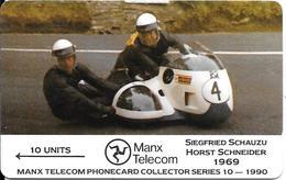 CARTE-MAGNETIQUE-GB-ILE MAN-MOTO COURSE 1969-UTILISE-TBE-RARE - Andere
