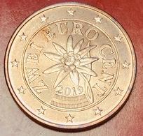 AUSTRIA - 2019 - Moneta - Stella Alpina - Euro - 0.02 - Austria
