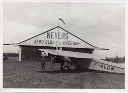 Photo Aéro Club De Nevers Années 30 Format 13/18 Lot De 8 Photos Aériennes - Aviation