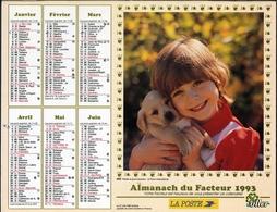 Almanach De La Poste 1993 - Bordeaux (33) - Calendriers