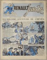 RARE REVUE RENAULT JUNIOR MAI JUIN 1956 N°8 RÉSERVÉ AU PERSONNEL VOITURE USINE AVENTURE DE L'HEVÉA - Newspapers