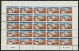 DJIBOUTI N° 486 COTE 25 € FEUILLE COMPLETE DE 25 EXEMPLAIRES NEUFS MNH ** COQUILLAGES . TB - Djibouti (1977-...)