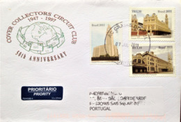 "Brazil, Circulated Cover To Portugal, ""Architecture"", ""Railway Stations"", Brasilia, São Paulo, 2011 - Cartas"