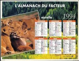 Almanach De La Poste 1994 - Région Paris (92-93-94) - Calendriers