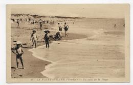 (RECTO / VERSO) LA FAUTE SUR MER EN 1950 - N° 46 - UN COIN DE LA PLAGE - PERSONNAGES - BEAU CACHET - CPA VOYAGEE - Autres Communes