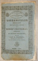 ANCIEN DOCUMENT 1830 OBSERVATIONS MÉDICALES SUR EFFETS SIROP PECTORAL CHAUMONNOT PARIS - Old Paper