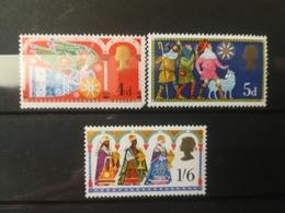 FRANCOBOLLI STAMPS GRAN BRETAGNA GREAT BRITAIN 1969 MNH** NUOVI SERIE COMPLETA COMPLETE NATALE CHRISTMAS NOEL - Nuovi