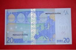 20 EURO U025B2  PORTUGAL U025 B2 - DRAGHI - M89662534996 - UNC - NEUF - FDS - 20 Euro