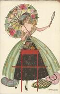 NU De L' Illustrateur Brunelleschi , Femme Au Miroir - Drawings