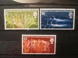 FRANCOBOLLI STAMPS GRAN BRETAGNA GREAT BRITAIN 1970 MNH** NUOVI SERIE COMPLETA COMPLETE GIOCHI GAME COMMONWEALTH - Nuovi