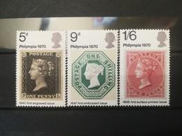 FRANCOBOLLI STAMPS GRAN BRETAGNA GREAT BRITAIN 1970 MNH** NUOVI SERIE COMPLETA COMPLETE PHILYMPIA 70 - Nuovi