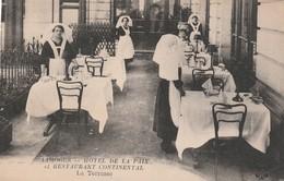 Rare Cpa Limoges Hôtel De La Paix Et Restaurant Continental La Terrasse - Limoges