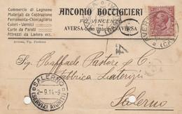 Aversa. 1914. Annullo Guller AVERSA (CASERTA), Su Cartolina Postale PUBBLICITARIA - 1900-44 Vittorio Emanuele III