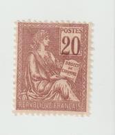 Timbre      -  Type Mouchon   -  N° 113   - 20 C. Brun Lilas -   Neuf , Gomme D'origine Avec Charnière - 1871-1875 Cérès