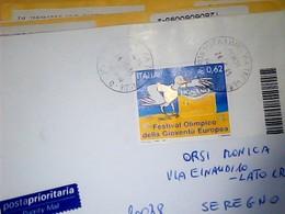 BUSTA 2005 Festival Olimpico Della Gioventù Europea  0,62 ISOLATO CODICE BARRE   HL5027 - 6. 1946-.. Repubblica