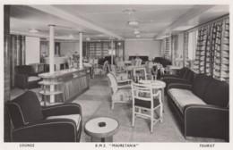 R.M.S. Mauretania Tourist Lounge Interior View,  C1940s/50s Vintage Postcard - Steamers