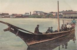 Indian Canoe Victoria British Columbia Canada, Native American Boat, C1900s Vintage Postcard - Indiens De L'Amerique Du Nord