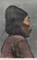 British Columbia Canada 'Indian Squaw' 'Mrs Joe' Native American Woman In Profile, C1900s/10s Vintage Postcard - Indiani Dell'America Del Nord