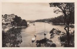 Mosman Bay, Sydney NSW Australia, Boats In Bay, Houses On Hillside, C1910s/20s Vintage Real Photo Postcard - Sydney